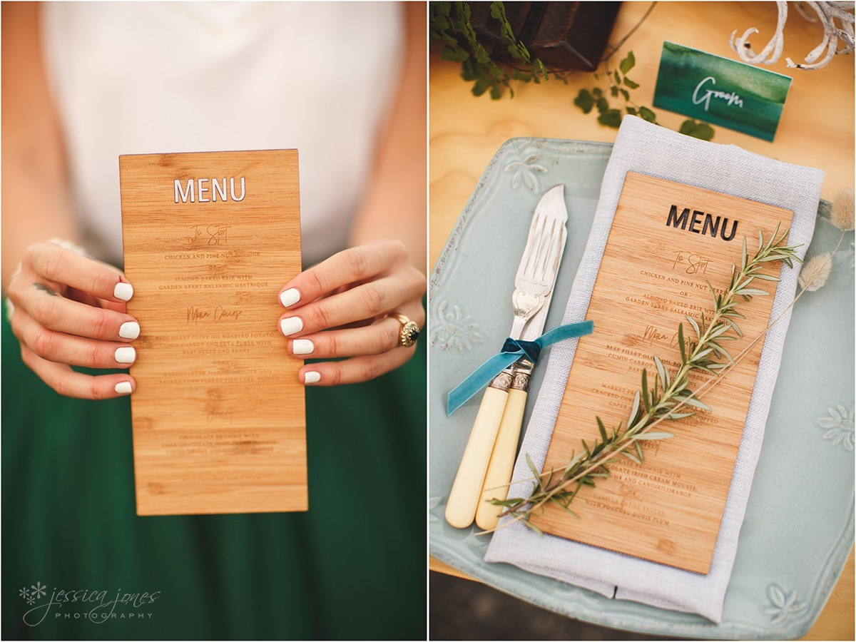 Styled Shoot - Menu - Vanilla Hayes